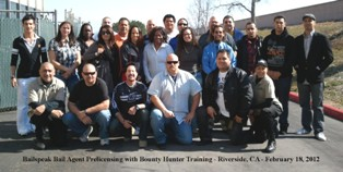 Fugitive Recovery Agent Training Riverside_Classes